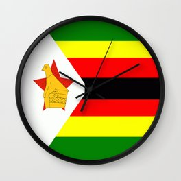 Flag of Zimbabwe Wall Clock