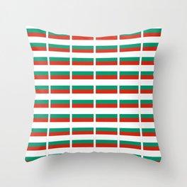 flag of bulgaria -bulgarian, България,български,slav,cyrillic,Sofia,bulgaria Throw Pillow