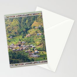 TERRACED HIMALAYAN FOOTHILLS VILLAGE IN NEPAL Stationery Cards