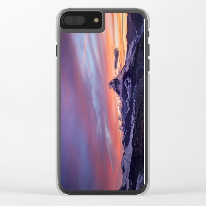 Himalayas Fishtail Mountain Sunset Clear iPhone Case
