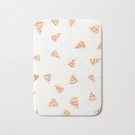 Pizza slices colored-pencil design Bath Mat