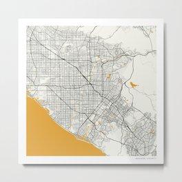 Orange County map Metal Print