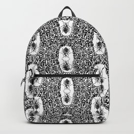 That Dream Where All Your Teeth Fall Out - Black & White Backpack