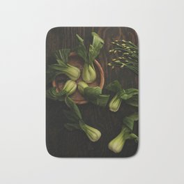 Bok Choy and Chives Bath Mat