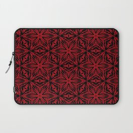 Black and red geometric flowers 5006 Laptop Sleeve