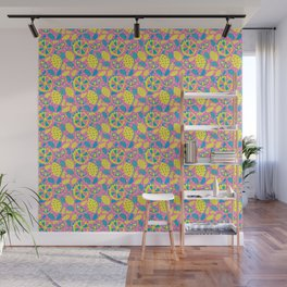 Pop Art Citrus, Summer Fruit, Lemonade, Lemon, Lime, Orange Wall Mural