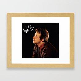 Will XO Framed Art Print