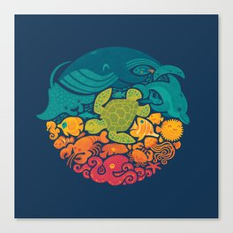 Aquatic Rainbow Canvas Print