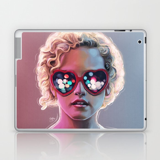 Electrick Girl Laptop & iPad Skin