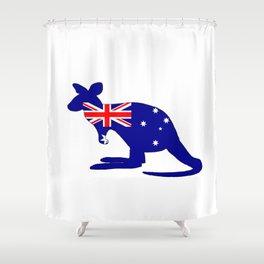 Australian Flag - Kangaroo Shower Curtain