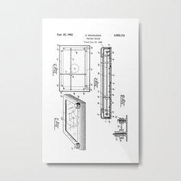 Etch-A-Sketch: Patent Drawing Metal Print