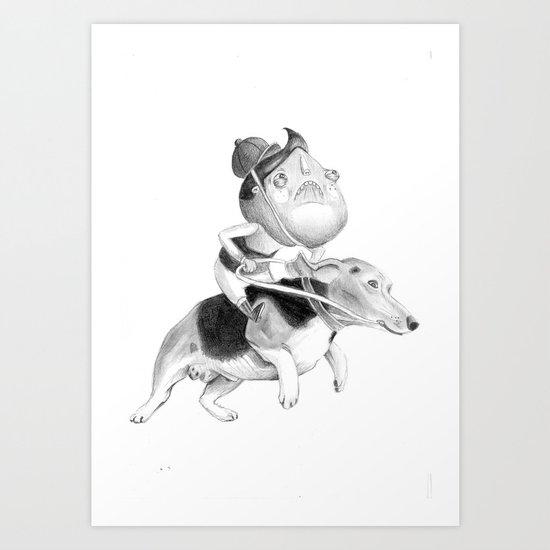 Ugly Kids - Dog riding Art Print