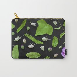 Leaves and flowers pattern (17) Carry-All Pouch