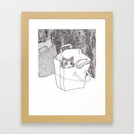 In the bag Framed Art Print