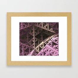 Pastel Pyramidz Framed Art Print