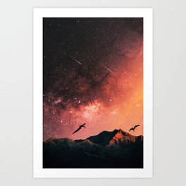 Ptero Night Sky Art Print