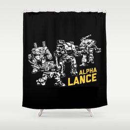 Alpha Lance Shower Curtain