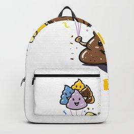 OMG It's My Birthday Poop Emoji Girl Funny print Backpack