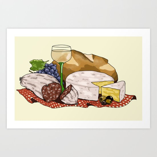 Perfect Picnic Art Print
