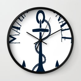 Marine Nationale Wall Clock