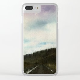Pastel Skyway Clear iPhone Case