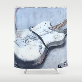 rock n roll guitar Shower Curtain