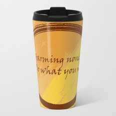 Harming None Do What You Will Color Background Metal Travel Mug