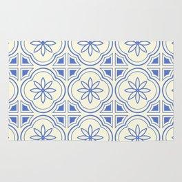 Modern Abstract Flower Pattern Art Print Rug