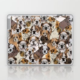 Social English Bulldog Laptop & iPad Skin