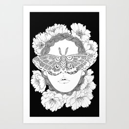 blind by beauty Art Print