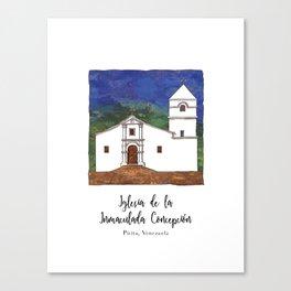 Iglesia de la Inmaculada Concepcion Canvas Print