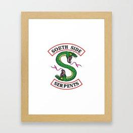 Southside Serpents Riverdale Framed Art Print