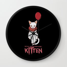 We All Meow Down Here. - Gift Wall Clock