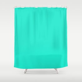 Aqua Gift Box Solid Summer Party Color Shower Curtain