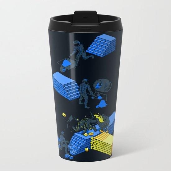 Tron Wall Metal Travel Mug