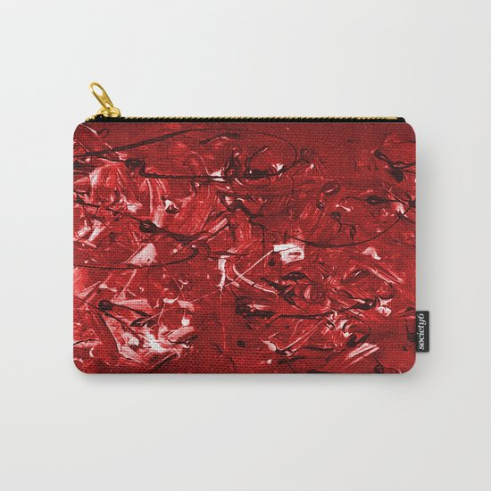 Abstract #446 Red Chaos Carry-All Pouch