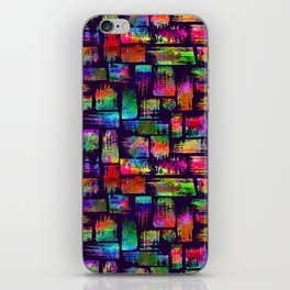 Rainbow brush stripes and strokes iPhone Skin