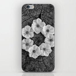 Flower circle iPhone Skin