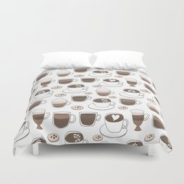 Coffee Cups Duvet Cover