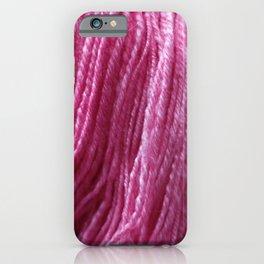 Handspun Yarn / Hot Pink! iPhone Case