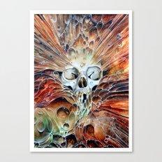 Bubble skull -oil Canvas Print