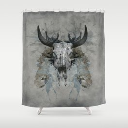 Something is squeezing my skull! Shower Curtain
