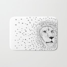 Lion Flower Bath Mat