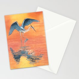 Blue Heron dance Stationery Cards
