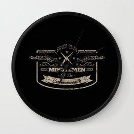 Minutemen of the Commonwealth Wall Clock