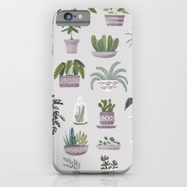 I Love Plants! Succulent Collection iPhone Case