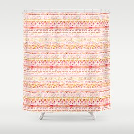DOOT Bright Happy Tribal Shower Curtain