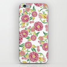 Camellia Japonica Floral Pattern iPhone & iPod Skin