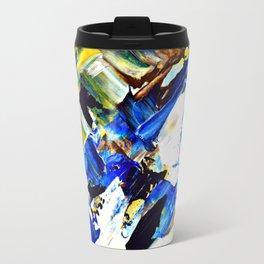 Blue Intersections Travel Mug
