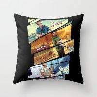 gta Throw Pillows featuring Breaking Bad mashup GTA V  by Akyanyme